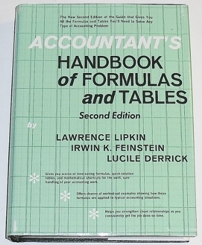 9780130012555: Accountant's Handbook of Formulas and Tables