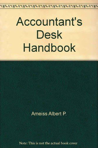9780130014610: Accountant's Desk Handbook