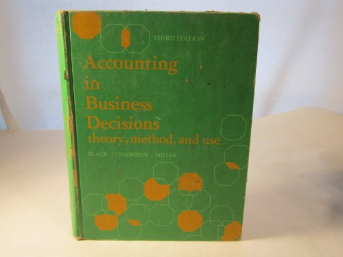 9780130015457: Accounting in Business Decisions