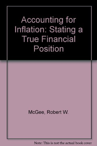 9780130023292: Accounting for Inflation: Stating a True Financial Position