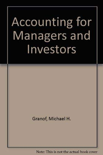 9780130027252: Accounting for Managers and Investors