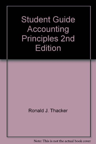 9780130027825: Student Guide Accounting Principles 2nd Edition