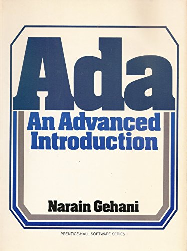 9780130039620: ADA: An Advanced Introduction (Prentice-Hall software series)