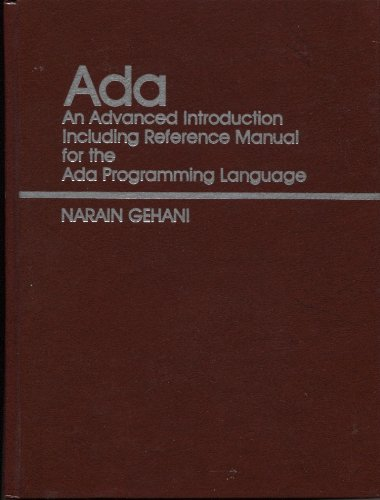 9780130039972: ADA: An Advanced Introduction (Prentice-Hall software series)
