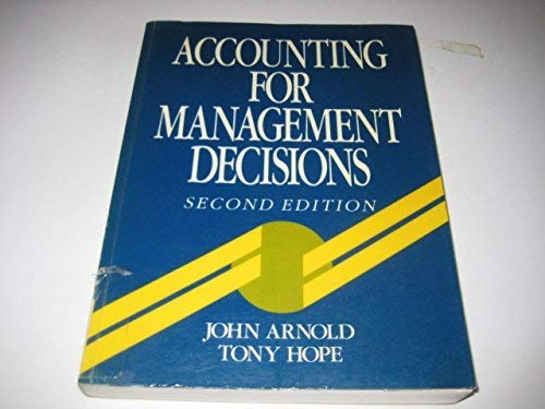 9780130043917: Accounting for Management Decisions