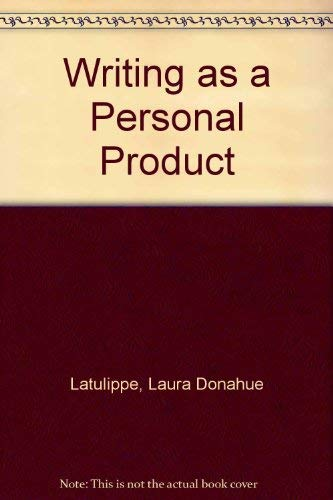 9780130058690: Writing As a Personal Product