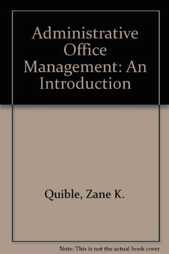 9780130059352: Administrative Office Management: An Introduction