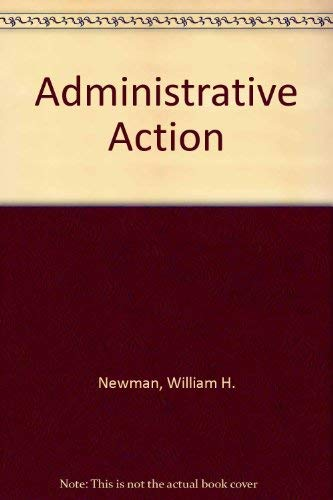 9780130071958: Administrative Action