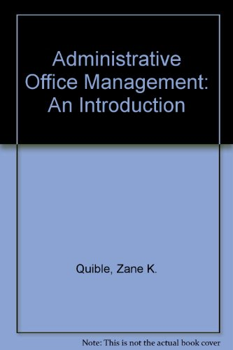 9780130072467: Administrative Office Management: An Introduction