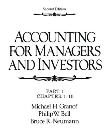 9780130079237: Accounting for Managers and Investors
