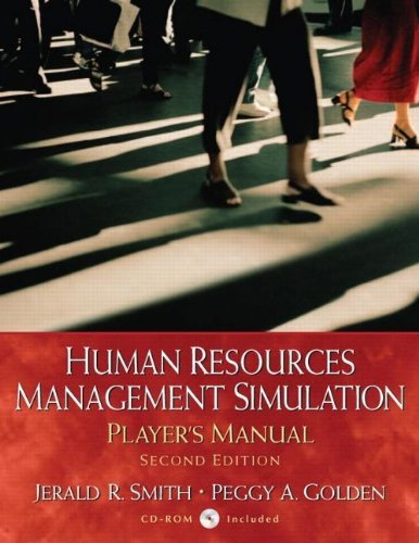 9780130081179: Human Resources Management Simulation: Player's Manual, 2nd edition