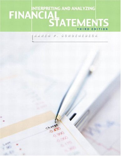 9780130082169: Interpreting and Analyzing Financial Statements (3rd Edition)
