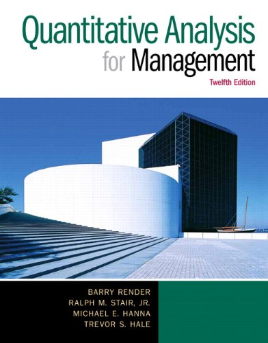 9780130082862: Instructor's Solution Manual Quantitative Analysis for Management
