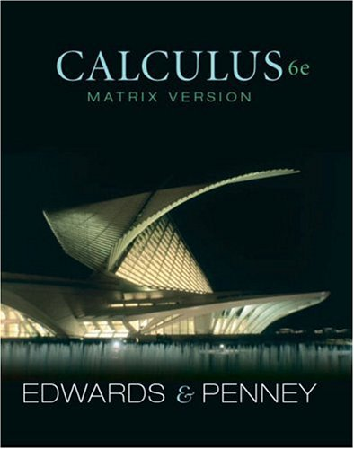 9780130084064: Calculus, Matrix Version (6th Edition)