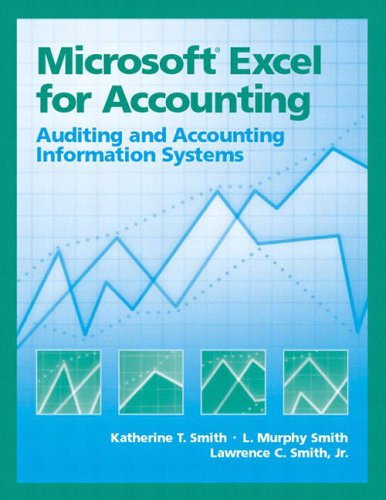 9780130085528: Microsoft Excel for Accounting: Auditing and AIs