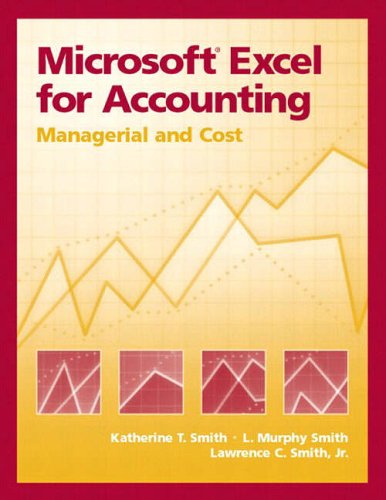 9780130085535: Microsoft Excel for Accounting: Managerial and Cost