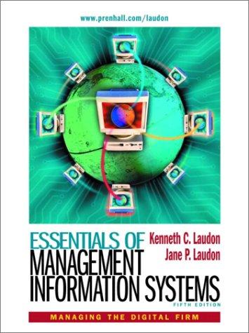9780130087348: Essentials of Management Information Systems