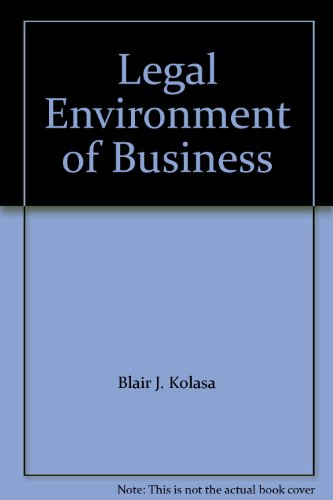 9780130091215: The Legal Environment of Business