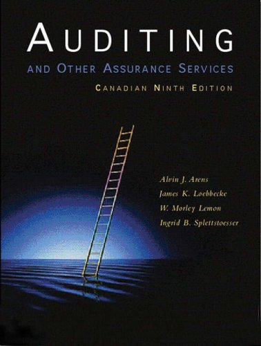 9780130091246: Auditing and Other Assurance Services, Ninth Canadian Edition