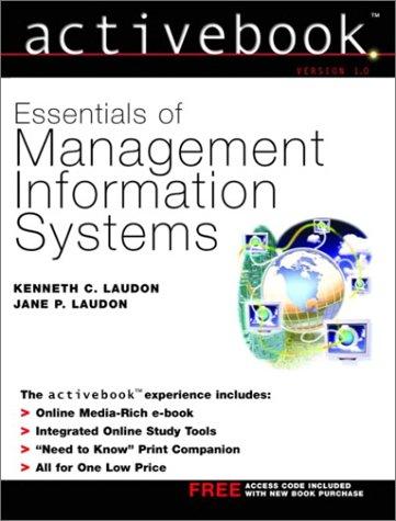 9780130094261: Essentials of Management Information Systems: Activebook Version 1.0