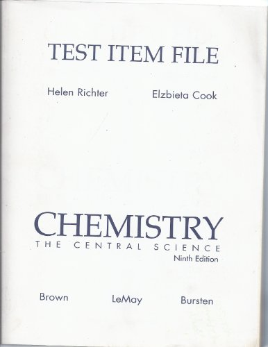 9780130097927: Test Item File Chemistry: The Central Science