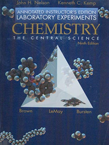 9780130098030: CHEMISTRY THE CENTRAL SCIENCE