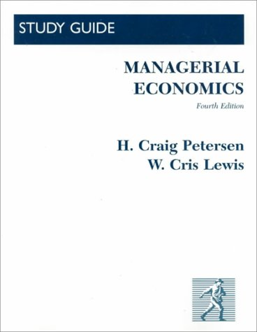 Managerial Economics: Peterson