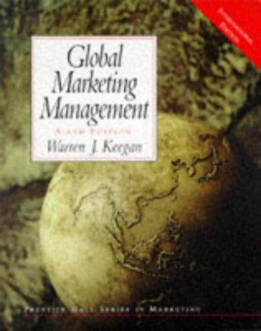9780130103369: Global Marketing Management