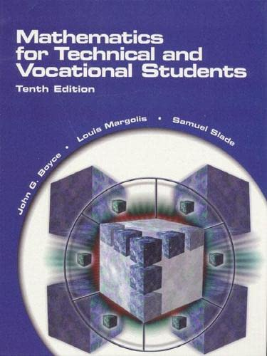 9780130104328: Mathematics for Technical and Vocational Students (10th Edition)