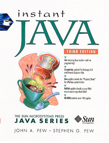 9780130105332: Instant Java 1.2 (Sun Microsystems Press Java)