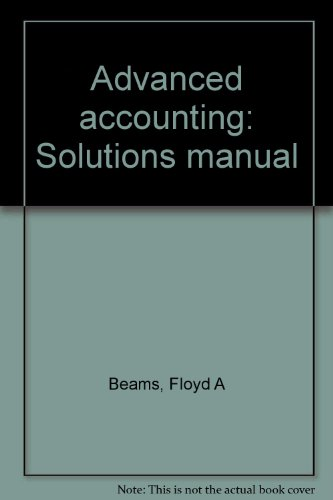 9780130105394: Advanced accounting: Solutions manual