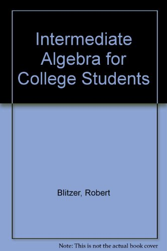 9780130105455: Intermediate Algebra for College Students