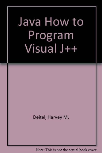 9780130105684: Java How to Program Visual J++