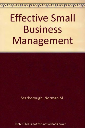 9780130106520: effective small business management, Sixth edition