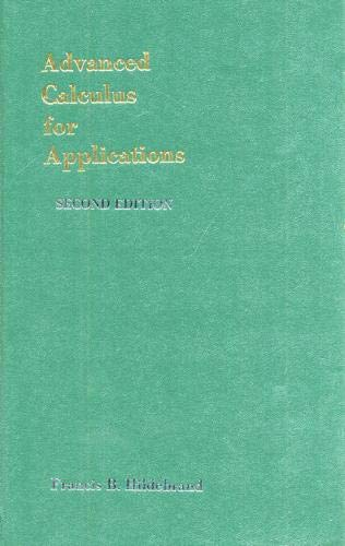 9780130111890: Advanced Calculus for Applications