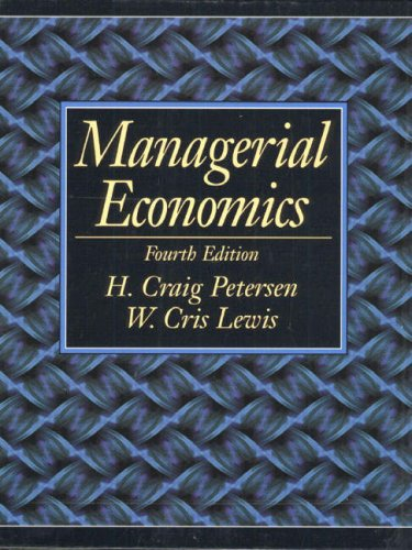 9780130114020: Managerial Economics (International Edition)