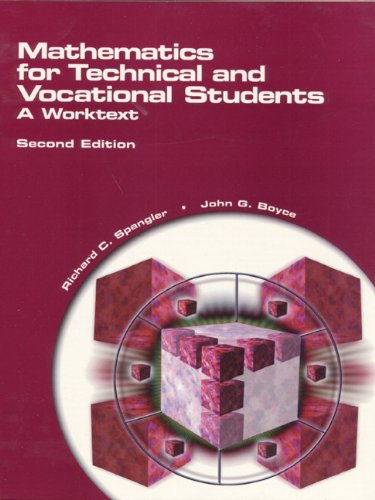 9780130114174: Mathematics for Technical and Vocational Students: A Worktext (2nd Edition)
