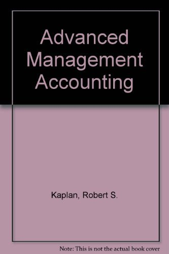9780130116024: Sm Advanced Management Accounting S/M
