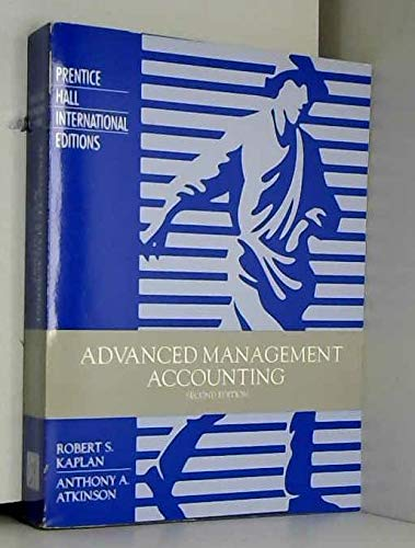 Advanced Management Accounting: Robert S. Kaplan