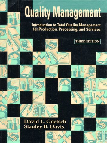 9780130116383: Quality Management: Introduction to Total Quality Management for Production, Processing, and Services