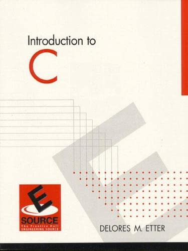 9780130118547: Introduction to C