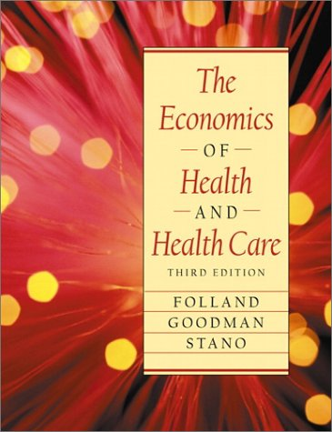 The Economics of Health and Health Care 9780130122155 This comprehensive introduction to the economics of health and health care, thoroughly develops and explains economic ideas and models, and reflects the full spectrum of the most current health economics literature. It provides readers with a solid working knowledge of the analytical tools of economics and econometrics—and applies them to contemporary health care issues. A focus on health care economic principles views consumer utility, and economic profit. KEY TOPICS: Content is organized by economic themes such as supply and demand, technology, labor issues, and the economics of information. Key chapters cover managed care; pharmaceuticals; cost-benefit analyses; labor markets and professional training; hospitals and long term care; government policies, intervention, and issues; and health systems reform. For individuals interested in the economic and administrative aspects of health care, and/or nursing and medical programs.