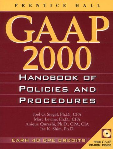9780130124173: Gaap Handbook of Policies and Procedures, 2000