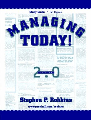 9780130124395: Study Guide for Managing Today!
