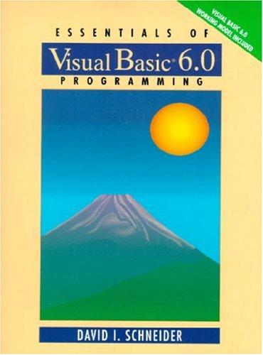 9780130127204: Essentials of Visual Basic 6.0 Programming