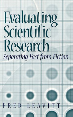 9780130128454: Evaluating Scientific Research: Separating Fact from Fiction