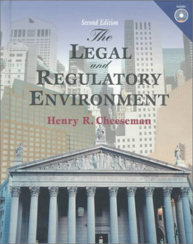 9780130129543: Legal and Regulatory Environment, The: Contemporary Perspectives in Business