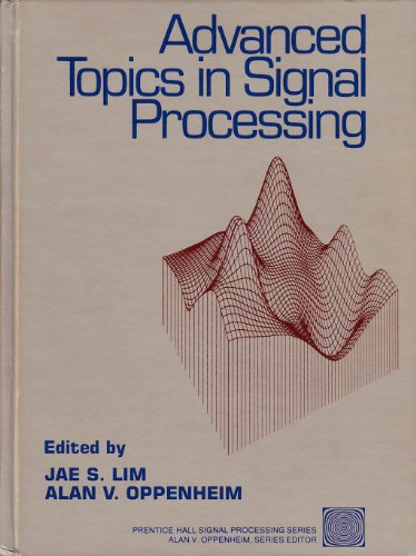 9780130131294: Advanced Topics in Signal Processing (Prentice-hall Signal Processing Series)