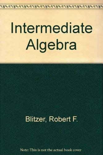 9780130132628: Intermediate Algebra