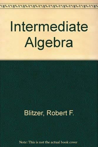 9780130132628: Intermediate Algebra